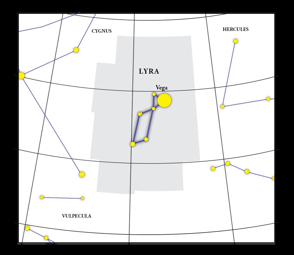 Mappa della costellazione Lyra