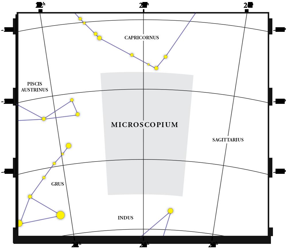 Microscopium Constellation Map