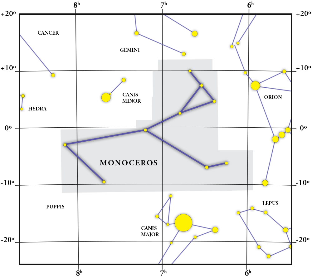 Monoceros Constellation Map