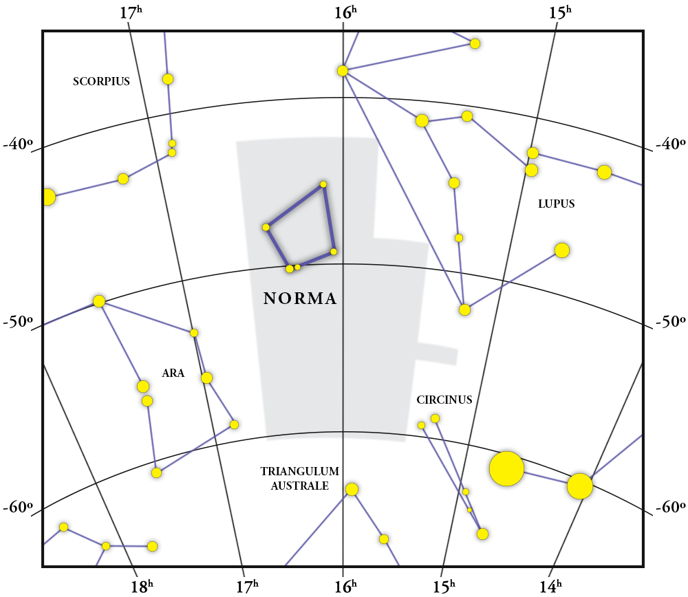 Norma Constellation Map