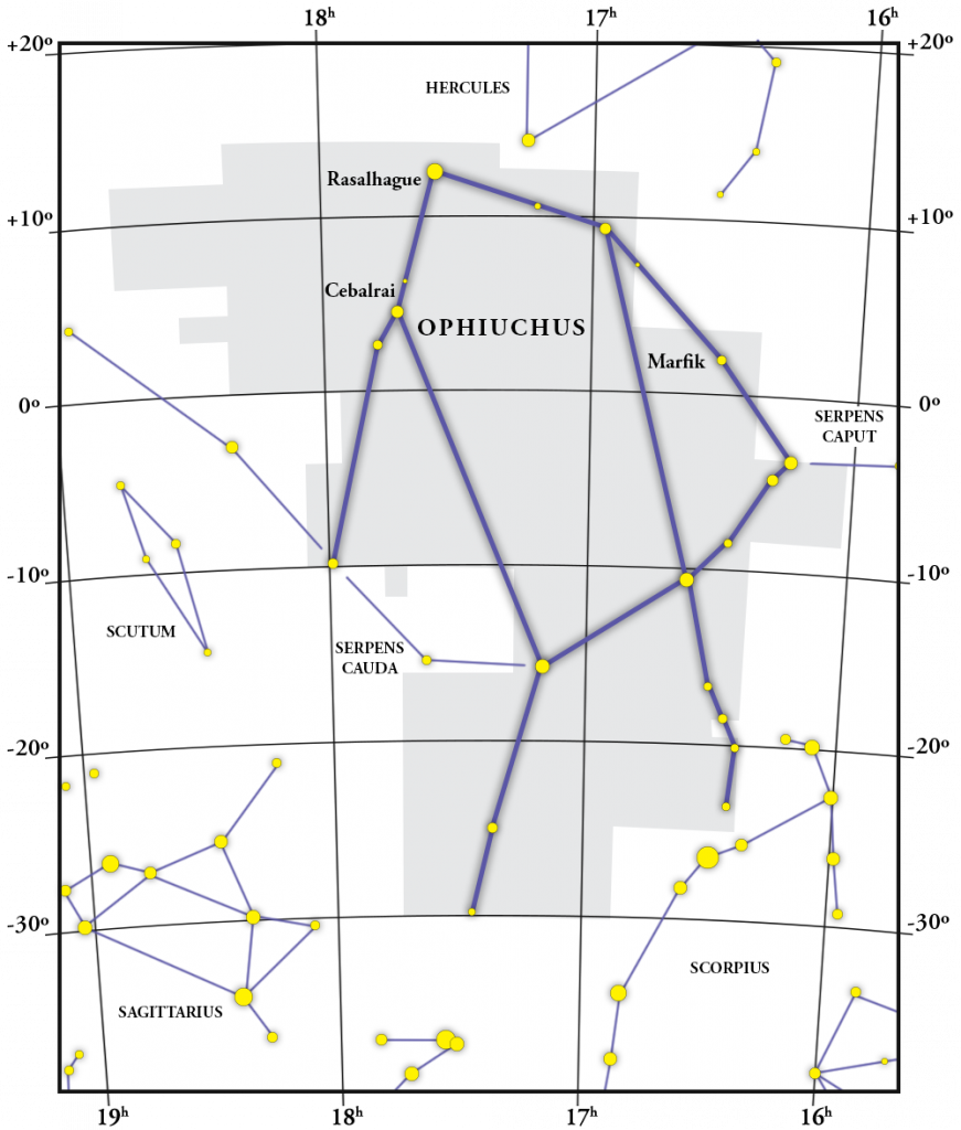 Ophiuchus Constellation Map