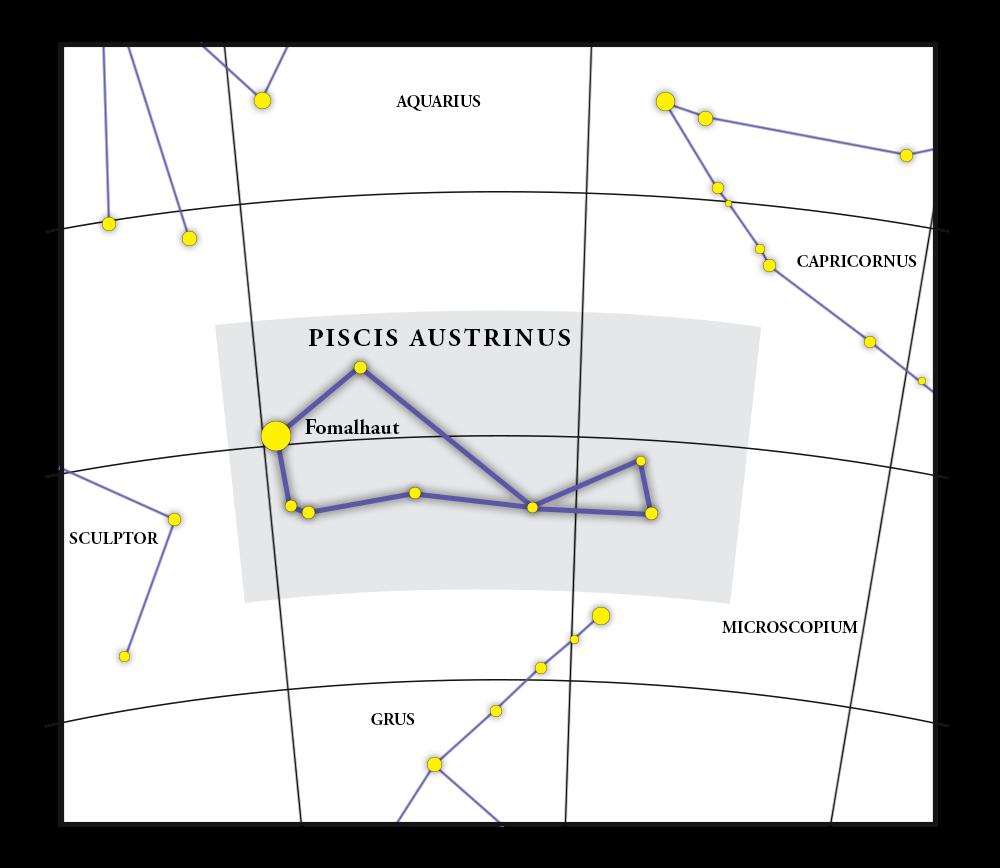 Piscis Austrinus Constellation Map