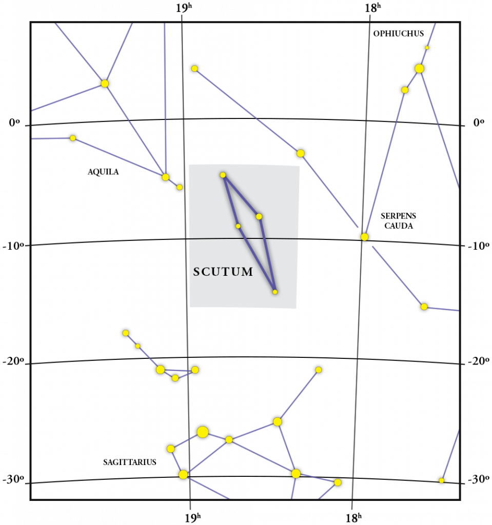 Scutum Constellation Map