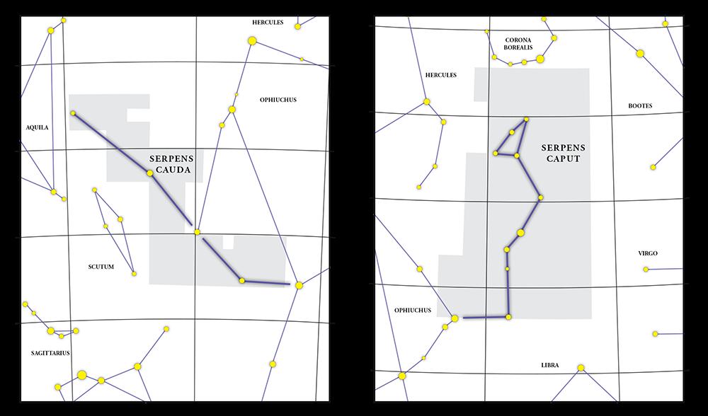 Serpens Constellation Map
