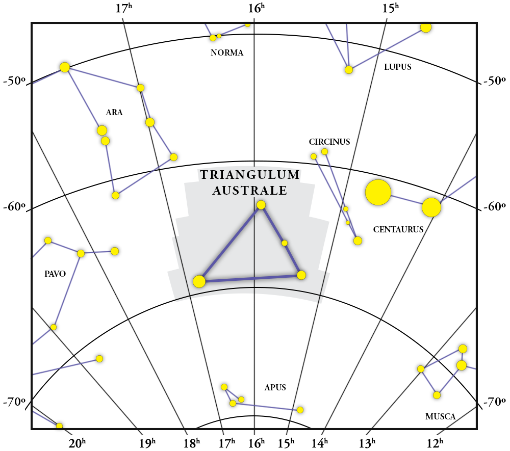 Triangulum Australe Constellation Map