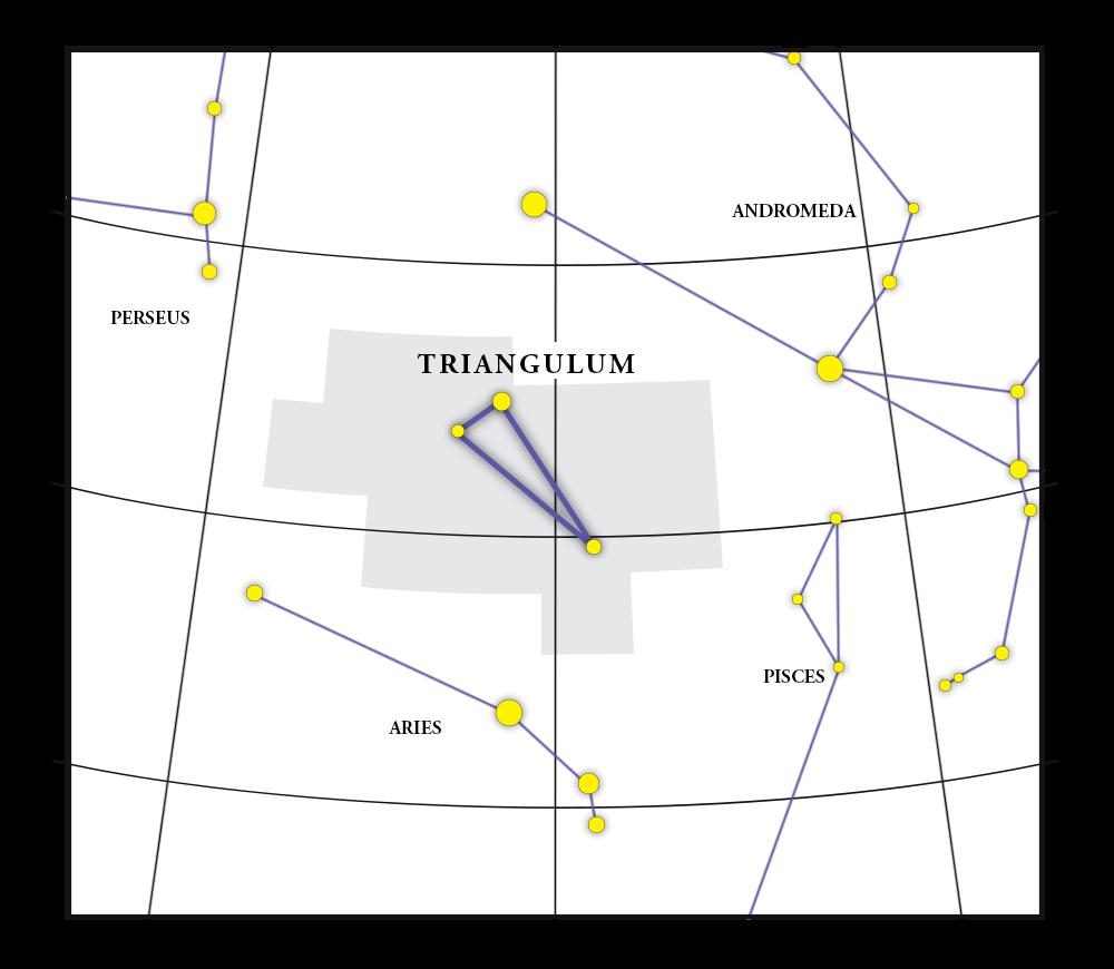 Mappa della costellazione Triangulum