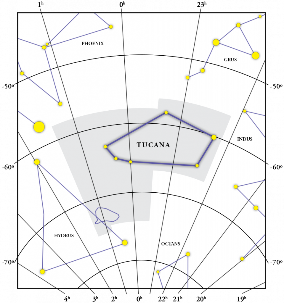 Tucana Constellation Map