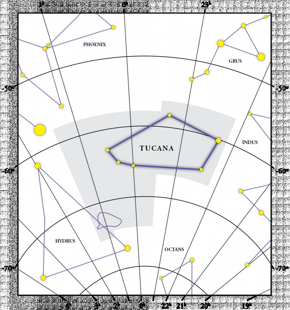 Tucana Constellation Map