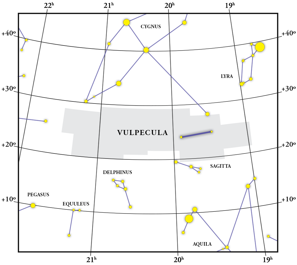 Vulpecula Constellation Map